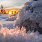 Talvella Ranualla on kaunista, kun lumi muovaa maiseman pehmeiksi hahmoiksi ja aurinko sävyttää näkymää eri sävyillä