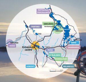 Ranuan kylämatkailu RanuaVillages -kartta